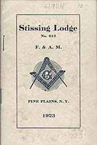 Thumbnail image of Stissing Lodge No. 615, 1923 Roster cover