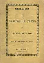 Thumbnail image of Westtown School 1851-2 Catalogue cover