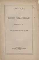 Thumbnail image of Robinson Female Seminary 1885 Catalogue cover