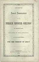 Thumbnail image of Pennsylvania Female Medical College 1856-57 Catalogue cover