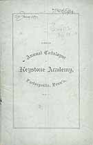 Thumbnail image of Keystone Academy 1876-77 Catalogue cover