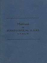 Thumbnail image of Burn's Lodge, A. F. & A. M. 1930 Manual cover