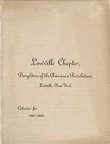 Thumbnail image of Lowville DAR Chapter 1907-1908 Calendar cover