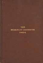 Thumbnail image of The Berkeley Institute 1895-6 cover