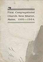 Thumbnail image of New Sharon First Congregation Church 1904 Manual cover