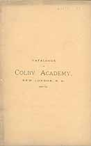 Thumbnail image of Colby Academy 1880-81 Catalogue cover