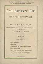 Thumbnail image of Civil Engineers' Club of the Northwest 1878 Report cover