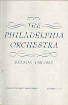 Thumbnail image of Philadelphia Orchestra 1951-52 Season Program cover