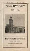 Thumbnail image of Cuba First Presbyterian Church 1902 Anniversary Program cover