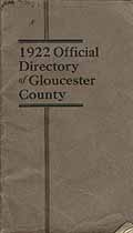 Thumbnail image of Gloucester County NJ 1922 Official Directory cover