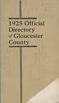 Thumbnail image of Gloucester County NJ 1925 Official Directory cover