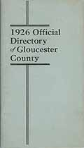 Thumbnail image of Gloucester County NJ 1926 Official Directory cover