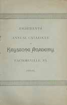 Thumbnail image of Keystone Academy 1886-87 Catalogue cover