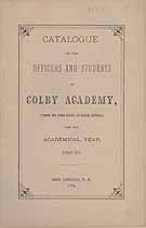 Thumbnail image of Colby Academy 1882-83 Catalogue cover