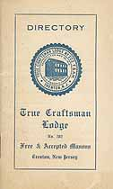 Thumbnail image of True Craftsman Lodge, F. & A. M. 1926 Directory cover