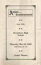 Thumbnail image of Owensboro High School 1923 Commencement cover