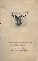 Thumbnail image of Amsterdam Lodge, No. 101, B.P.O.E. 1914 Memorial cover