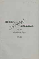 Thumbnail image of Colby Academy 1884-85 Catalogue cover