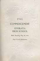 Thumbnail image of Ephrata Borough High 1941 Commencement cover