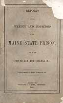 Thumbnail image of Maine State Prison 1855 Report cover