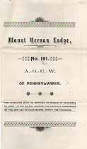 Thumbnail image of Mount Vernon Lodge No. 191 A. O. U. W. Deaths (1892-1895) cover