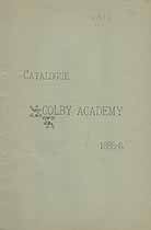 Thumbnail image of Colby Academy 1885-86 Catalogue cover