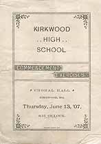 Thumbnail image of Kirkwood High School 1907 Commencement cover