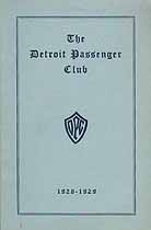 Thumbnail image of Detroit Passenger Club 1928-1929 Membership cover