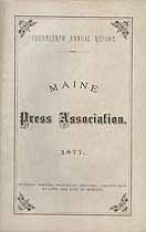 Thumbnail image of Maine Press Assoc. 1877 Members cover
