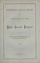 Thumbnail image of Maine General Hospital 1883 Report cover