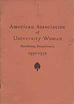 Thumbnail image of American Association of University Women 1931-1932 cover