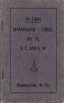 Thumbnail image of Mannington Lodge, A. F. & A. M., 1909 By-Laws cover