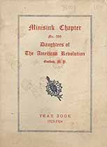 Thumbnail image of Minisink DAR Chapter 1923-1924 Year Book cover