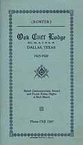Thumbnail image of Oak Cliff Lodge No. 705, 1925-26 Roster cover