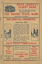 Thumbnail image of Piatt County 1929 Farm Directory cover