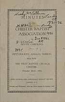 Thumbnail image of Chester Baptist Association 1931 Report cover