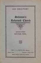 Thumbnail image of Solomon's Reformed Church 1930 Directory cover