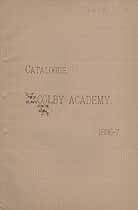 Thumbnail image of Colby Academy 1886-87 Catalogue cover