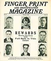 Thumbnail image of Finger Print and Identification Magazine, 1930, March Issue cover