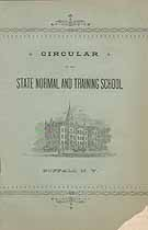 Thumbnail image of Buffalo Normal School 1892 Circular cover