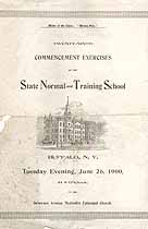 Thumbnail image of Buffalo Normal School 1900 Commencement cover
