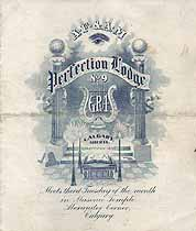 Thumbnail image of Perfection Lodge, A. F. & A. M. 1908 Program cover