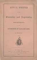 Thumbnail image of Massachusetts Executive and Legislative Government 1860 Register cover