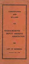 Thumbnail image of Massachusetts Deputy Sheriffs' Association 1935 By-Laws cover
