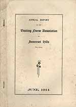Thumbnail image of Visiting Nurse Association of Somerset Hills 1914 Report cover