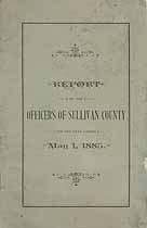 Thumbnail image of Sullivan County Commissioners 1885 Report cover