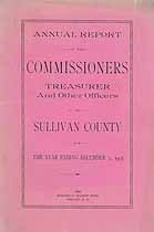 Thumbnail image of Sullivan County Commissioners 1905 Report cover