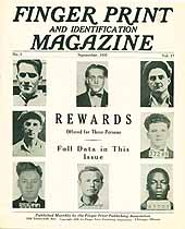 Thumbnail image of Finger Print and Identification Magazine, 1935, September Issue cover