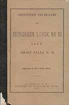 Thumbnail image of Evergreen Lodge, No. 53 I. O. O. F. 1873 By-Laws cover