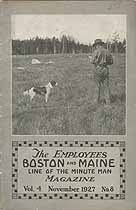 Thumbnail image of Boston and Maine Railroad 1927 Employees Magazine (November) cover